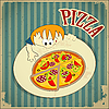 Pizza label | Stock Vector Graphics
