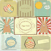 Easter cards in vintage style | Stock Vector Graphics