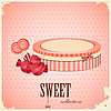 Vector clipart: vintage postcard - sweet candy