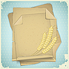 Vector clipart: Grunge paper with ears of wheat