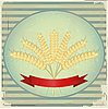 Vector clipart: Vintage label with ears of wheat