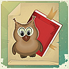 wise owl and book