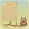 Wise owl and old paper | Stock Vector Graphics