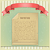 Grunge-Papier mit rotem Band