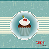 Vector clipart: Chocolate Cake with Cherry