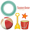 Vector clipart: Beach toys