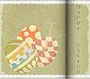 Векторный клипарт: Пасхальные яйца - открытка в стиле винтаж