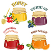Jam and honey | Stock Vector Graphics