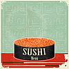 Sushi-Menü im Vintage-Stil