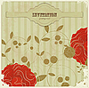 Vector clipart: Vintage card with flowers