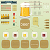 Vector clipart: Vintage infographics set - beer icons