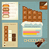 Vintage infographics set - chocolate icons