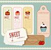 Vector clipart: Vintage Dessert menu - set of labels
