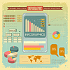 Vintage infographics set - mobile phone icons