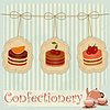 Vector clipart: vintage postcard with cake