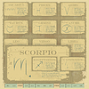 Vector clipart: Vintage zodiac horoscope