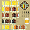 Vintage infographics set - beer icons | Stock Vector Graphics