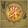 Векторный клипарт: Пицца на фоне гранж