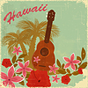 Vector clipart: Vintage Hawaiian postcard