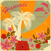 Vintage Hawaiian pocztówka | Stock Vector Graphics