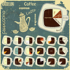 Vector clipart: Vintage infographics set - types of coffee drinks