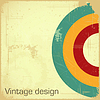 Vector clipart: retro postcard with place for text