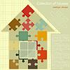 Vector clipart: Puzzle house. Concept - Construction
