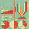 Векторный клипарт: ретро элементами инфографики