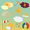 Vector clipart: weather symbols set