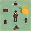 Векторный клипарт: здоровое питание концепция
