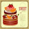 Vector clipart: Big Chocolate Fruit Cake