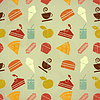 Vector clipart: food seamless color background