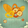 Vector clipart: Vintage card for Bakery Shop