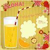 Design-Menü-Karte für Cocktail Bar