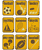 Vector clipart: sport grunge signs