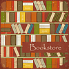 Vector clipart: Vintage Bookstore Background