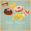 Vector clipart: Vintage Cover Cafe or confectionery Menu