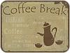 Векторный клипарт: Grunge карты кофе-брейк