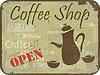 Vector clipart: Grunge sign pattern for coffee shop