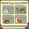Vector clipart: travel card in grunge style