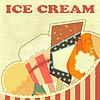 Vector clipart: Ice Cream Retro color card