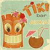Vektor Cliparts: hawaiische Vintage-Postkarte