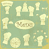 Vector clipart: Vintage cover menu with chefs