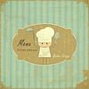 Vintage Menu Card Design with chef