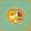 Векторный клипарт: Ретро-карты Baby Design