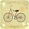 Vector clipart: Retro bicycle card