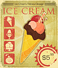 Design Ice cream price in grunge style