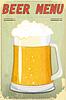 Vector clipart: Retro Design Beer Menu
