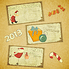 Vector clipart: set of Retro Christmas cards