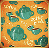 Vector clipart: coffee tea cups and coffee tea pot